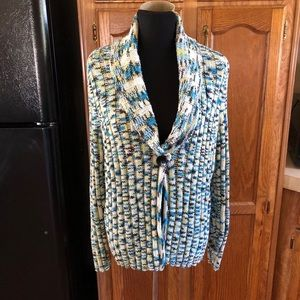 Jh Collection Thick Knit Cardigan Sweater Size 1X